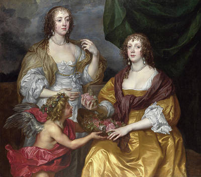 Sister Painting - Lady Elizabeth Thimbelby And Her Sister by Anthony van Dyck