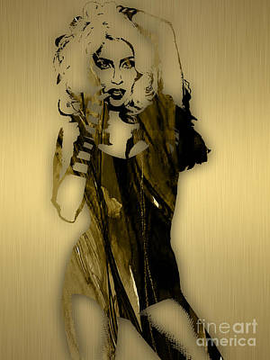 Lady Mixed Media - Lady Gaga Collection by Marvin Blaine