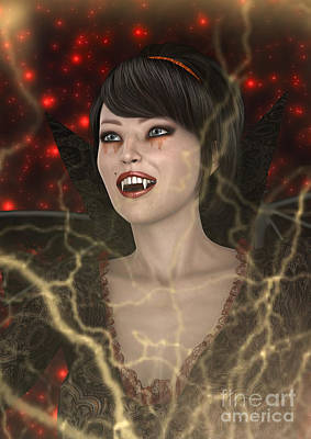 Digital Art - Lady Vamp by Design Windmill