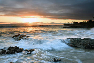 Laguna Beach Sunset Art Print by Dung Ma