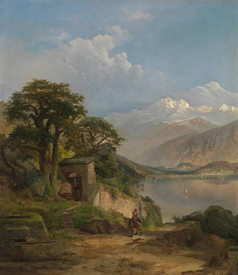 Painting - Lake Como by Thomas Moran