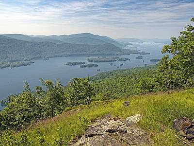Lake George From The Tongue Mountain Range New York  Art Print by Brendan Reals