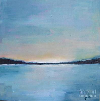 Painting - Lake Sunset by Vesna Antic
