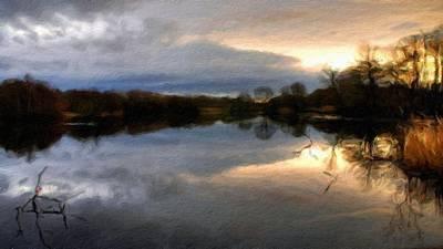 A Summer Evening Digital Art - Landscape Art by Victoria Landscapes