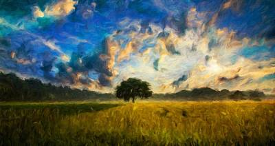 Impressionism Paintings - Landscape by JS by John Springfield
