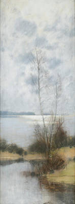 Waters Painting - Landscape by Carl Brandt