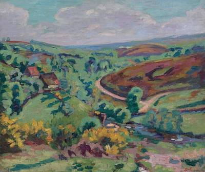 Landscape Of Creuse Art Print by Armand Guillaumin
