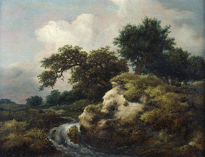 Painting - Landscape With Dune And Small Waterfall by Jacob van Ruisdael