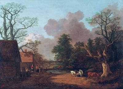 Royal Painting - Landscape With Milkmaid by Thomas Gainsborough