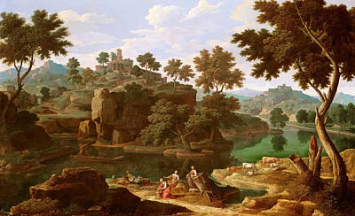 1736 Painting - Landscape With River by Etienne Allegrain