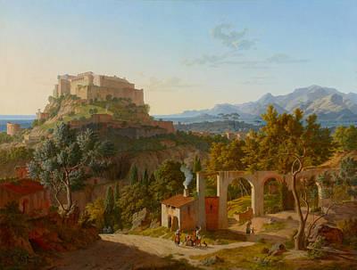 Landscape With The Castle Of Massa Di Carrara Art Print