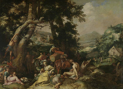 Baptist Painting - Landscape With The Ministry Of John The Baptist by Abraham Bloemaert