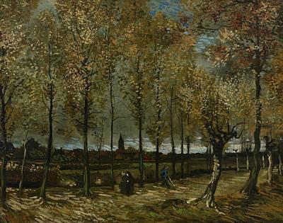 Lane With Poplars Near Nuenen Print by Vincent van Gogh