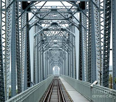 Photograph - Large Old Railway Bridge by Yali Shi
