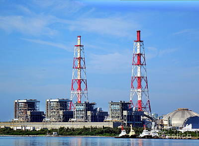 Photograph - Large Thermal Power Plant by Yali Shi