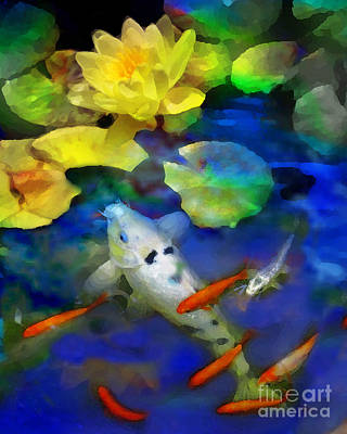 Koi Digital Art - Last Rays Of The Sun by Gina Signore
