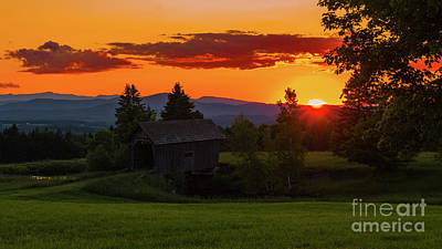 Photograph - Late Spring Sunset by Scenic Vermont Photography