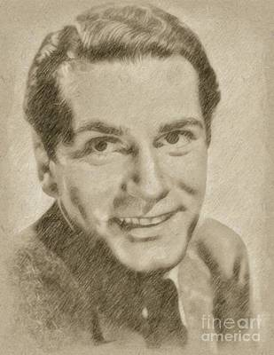 Singer Drawing - Laurence Olivier Hollywood And British Actor by Frank Falcon