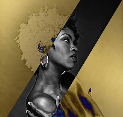 Lauryn Hill Mixed Media - Lauryn Hill Collection by Marvin Blaine