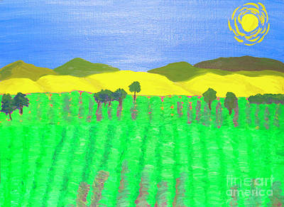 Painting - Lavender Field by Irina Afonskaya