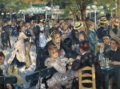 Painting - Le Moulin De La Galette by Pierre-Auguste Renoir