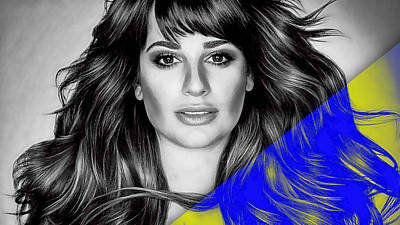 Lea Michele Collection Art Print by Marvin Blaine