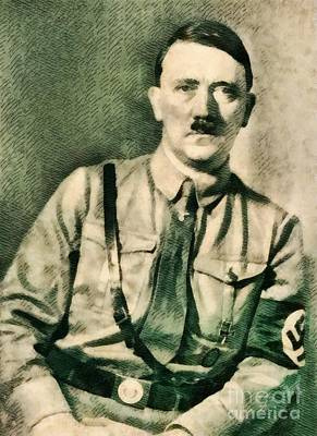 Leaders Of Wwii - Adolf Hitler Art Print by John Springfield