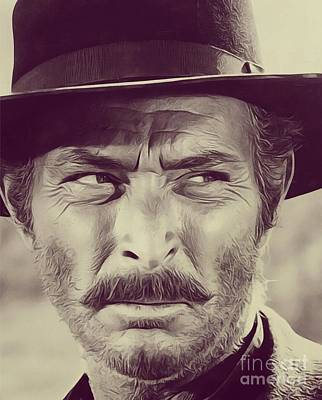 Musicians Royalty-Free and Rights-Managed Images - Lee Van Cleef, Actor by John Springfield