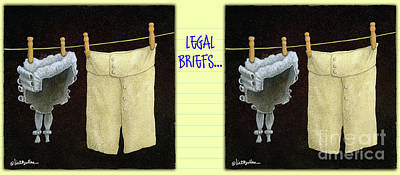 Painting - Legal Briefs... by Will Bullas