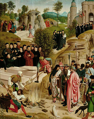 Baptism Painting - Legend Of The Relics Of St. John The Baptist by Geertgen Tot Sint Jans