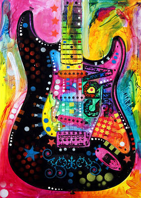 Art Print featuring the painting Lenny Strat by Dean Russo