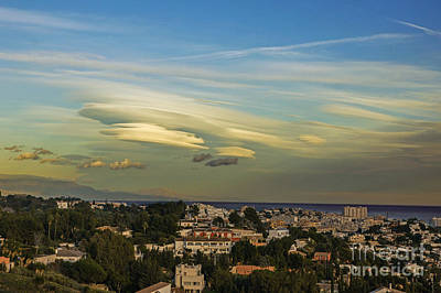 Photograph - Lenticular Clouds by Rod Jones