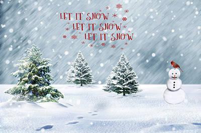 Photograph - Let It Snow by Cathy Kovarik
