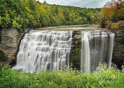 Photograph - Letchworth Middle Falls New York by Karen Jorstad