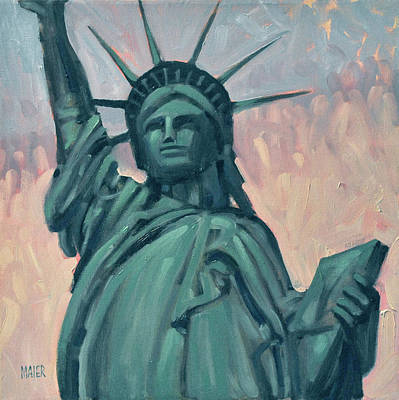 Statue Of Liberty Painting - Liberty by Donald Maier