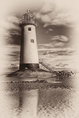 Talacre Photograph - Lighthouse  by Adrian Evans