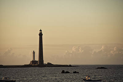 Sundown Photograph - Lighthouse by Nailia Schwarz