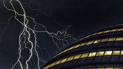 Striking Photograph - Lightning Strike by Martin Newman