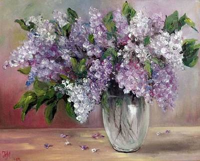 Painting - Lilac by Nina Mitkova