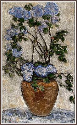 Flower Still Life Mixed Media - Lilac by Pemaro