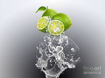 Lime Splash Art Print