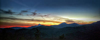 Photograph - Linville Gorge Wilderness Mountains At Sunset by Alex Grichenko