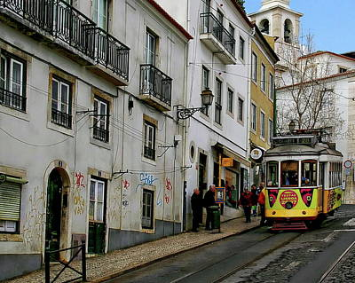 Photograph - Lisbon City Tram by Anthony Dezenzio