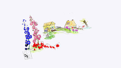 Digital Art - Little 3d House by Debbi Saccomanno Chan