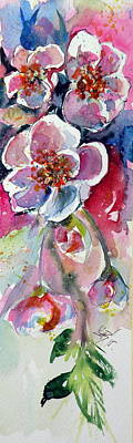 Spring Flowers Painting - Little Spring by Kovacs Anna Brigitta