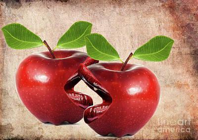 Love Digital Art - Live Apples   by Prar Kulasekara