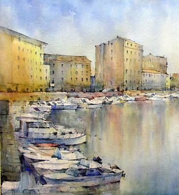 Boats Painting - Livorno - Italy by Natalia Eremeyeva Duarte