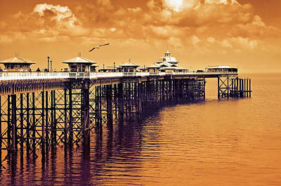 Llandudno Pier North Wales Uk Art Print by Mal Bray