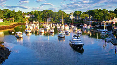 Photograph - Lobster Boats - Perkins Cove - Maine by Steven Ralser