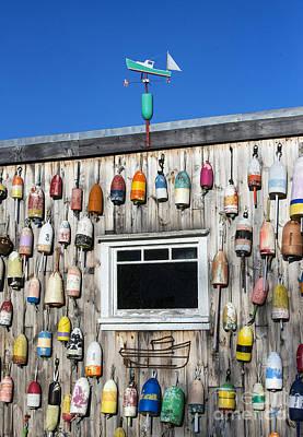 Weathervane Photograph - Lobster Shack Buoys by John Greim